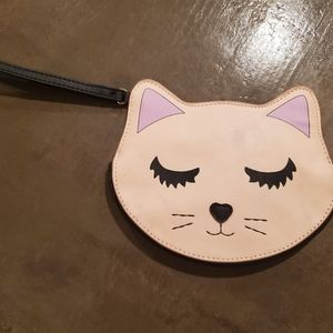 Betsy Johnson kitty wristlet